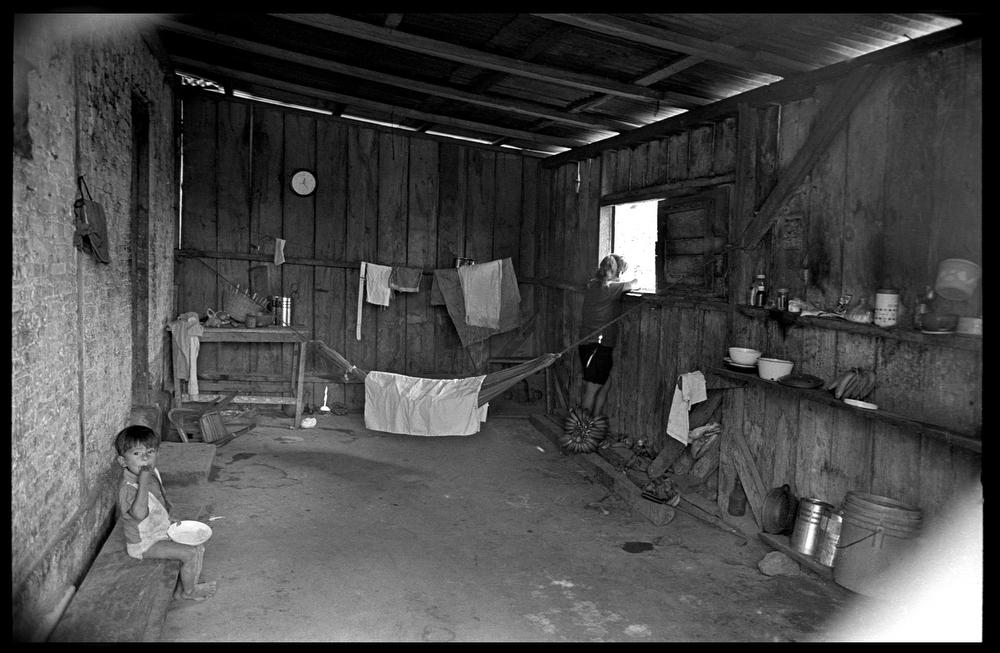 Inside a labourer's home, La Dalia, Nicaragua.