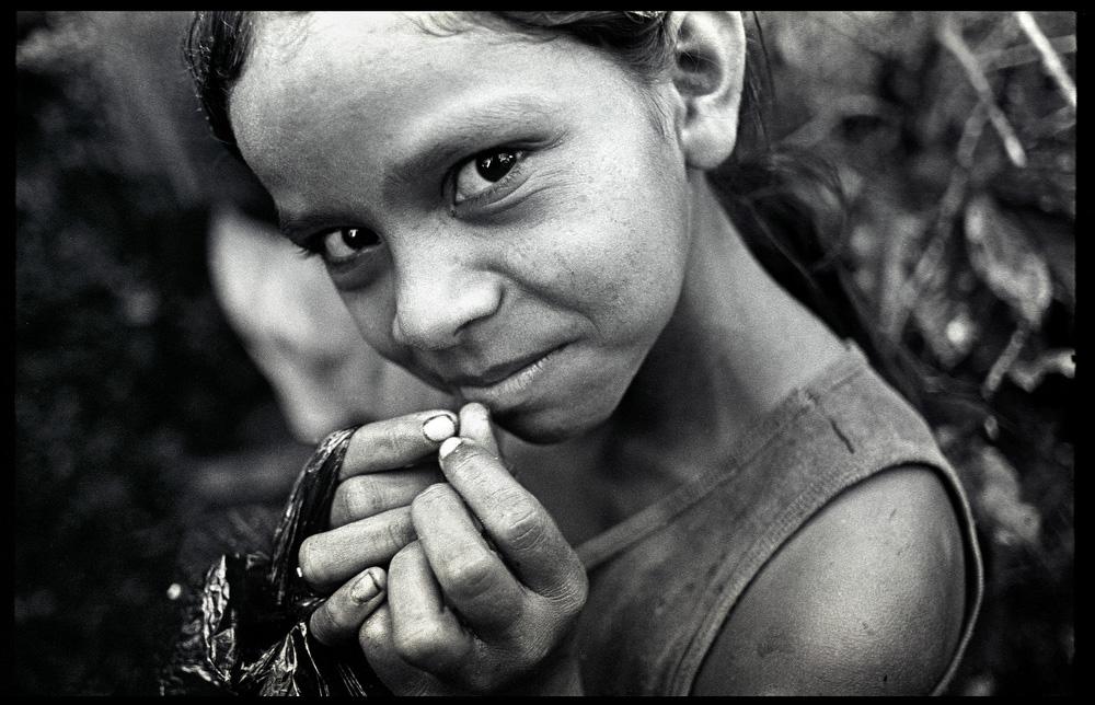 Child worker on La Corona farm , Yasica Sur , Matagalpa, Nicaragua.