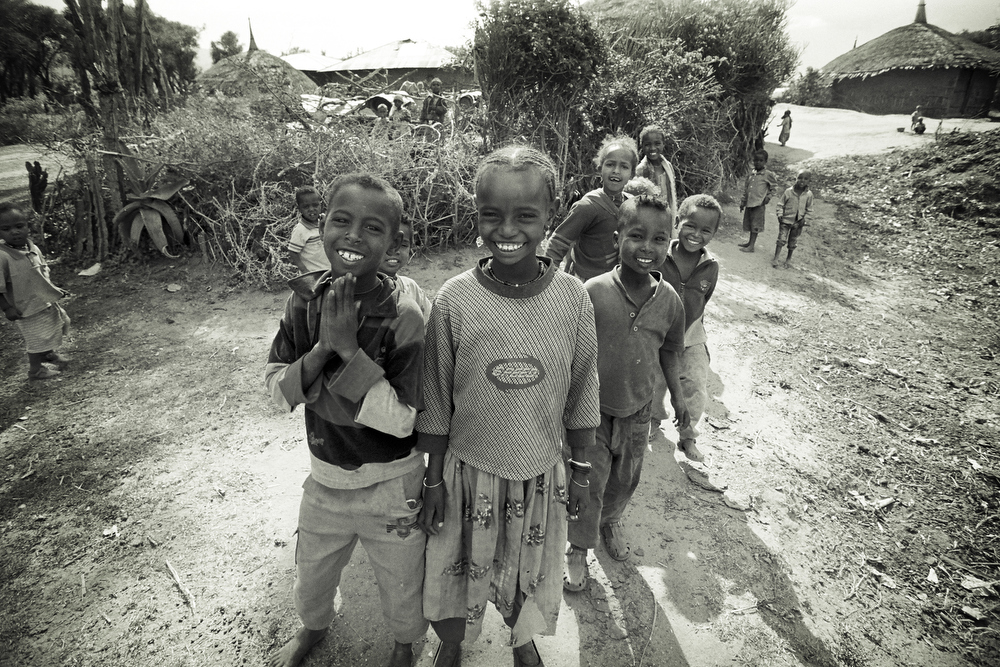 Children in the community of Galemrga, Ethiopia.